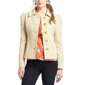 Tabitha flecked peplum tweed jacket